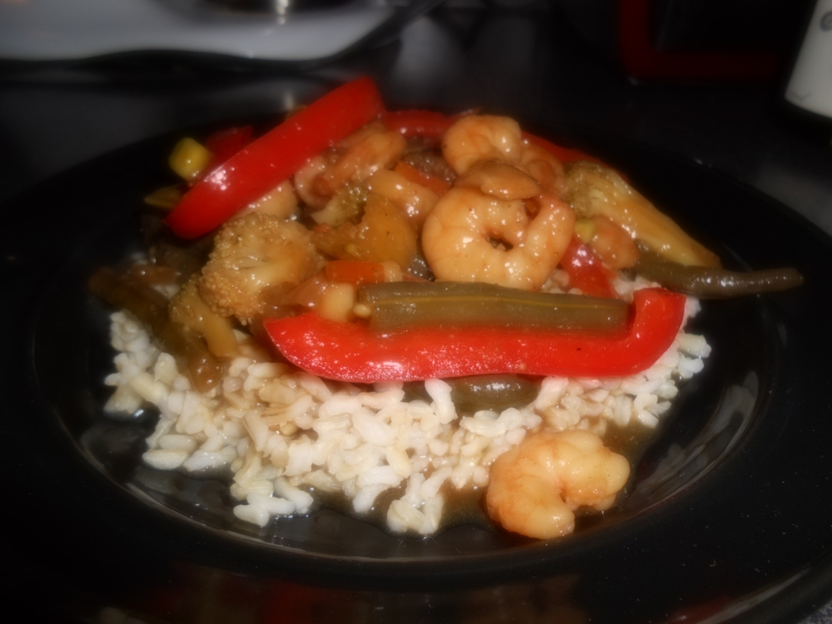 Shrimp w/ Homemade Stir Fry Sauce