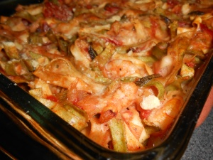 shrimp pasta bake and honey lemon marinade 033